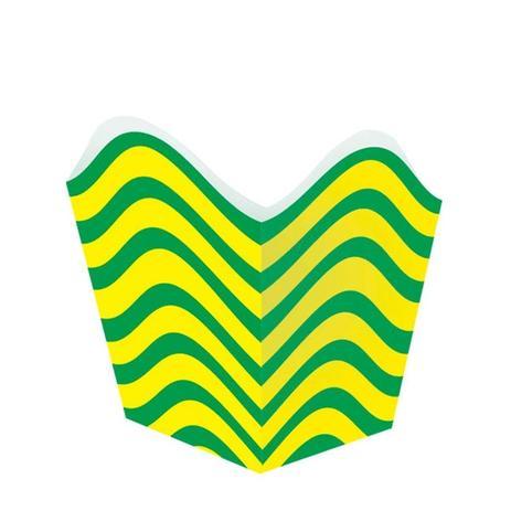 Cachepot Listrado Verde e Amarelo Brasil 10 unidades Festança - Festabox 4468e9e92f