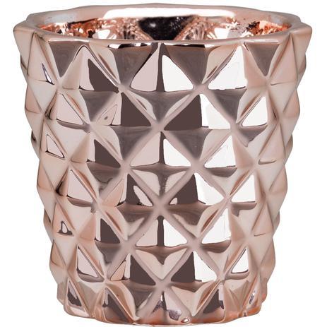 06e9c878efe Cachepot Rose Gold Em Cerâmica - Mart - Vaso de Jardim   Cachepô ...