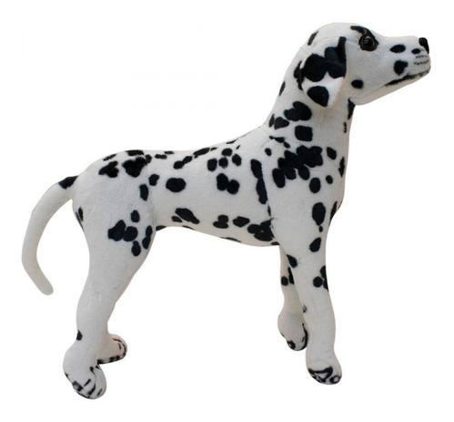 Cachorro Dalmata Realista Levantado 44cm Pelucia Enfeite Fofy