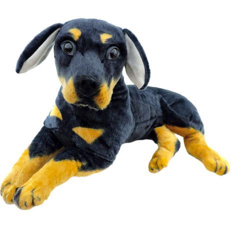 f208eae50 Cachorro de Pelúcia Rottweiler Filhote 52 cm Fizzy - Pelúcia ...