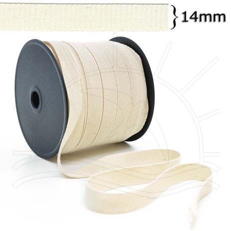 Imagem de Cadarço Sarjado Cru (14mm) - 50m