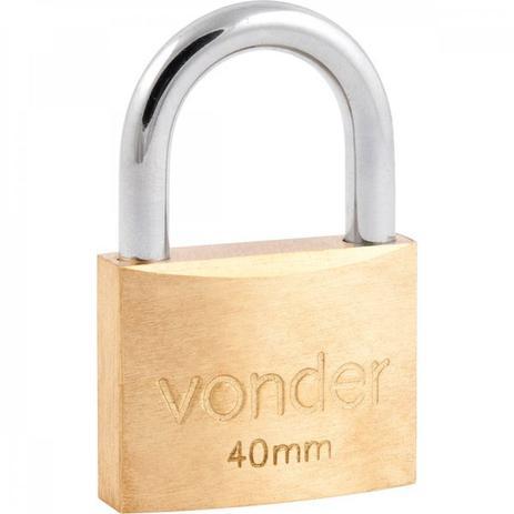 Imagem de Cadeado de latão 40 mm encartelado Vonder