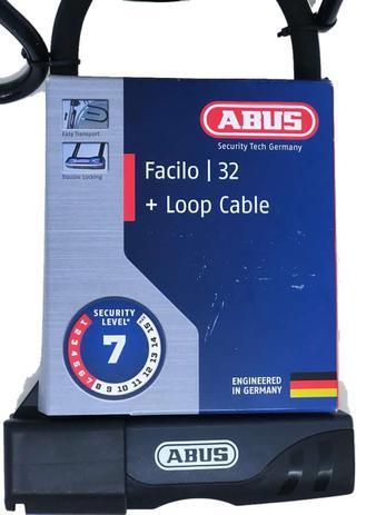 ed9336df2 Cadeado trava u-lock abus facilo 32 + loop cable 140cm - Outros ...
