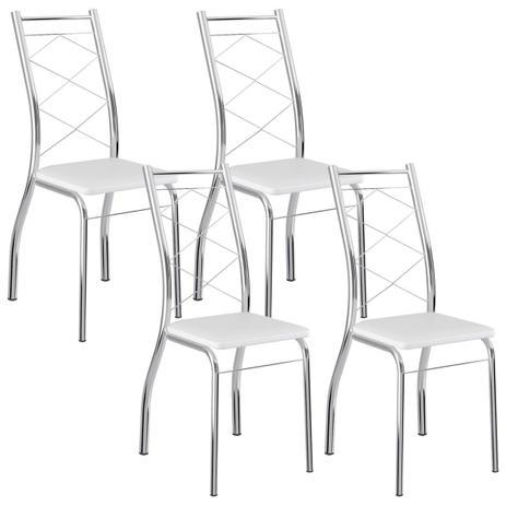 40958989c5 Cadeira 1710 Cromada 04 Unidades Branca Carraro - Cadeiras para Sala ...