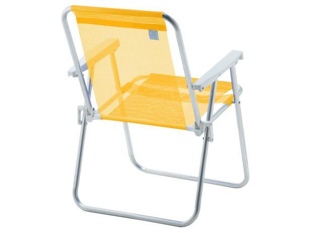 848db9014b1f Cadeira Alta Alumínio Beach Premium Amarelo - Amvc - Cadeira para ...