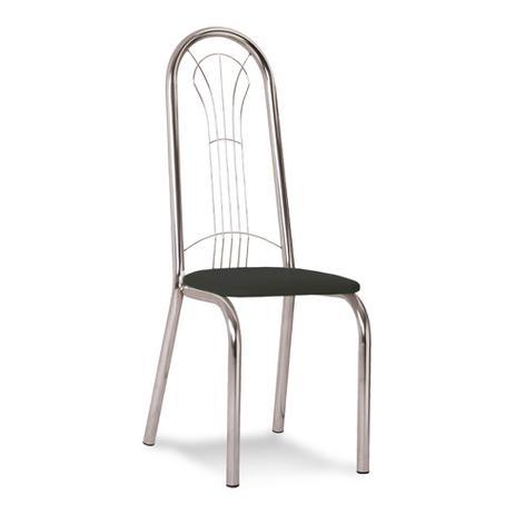fb1bd6327b Cadeira Cromada Carmen Preta - Carraro móveis - Cadeira para Cozinha ...