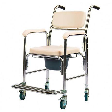 Imagem de Cadeira de Banho Higiênica com Coletor e Assento Almofadado Mobil Saúde