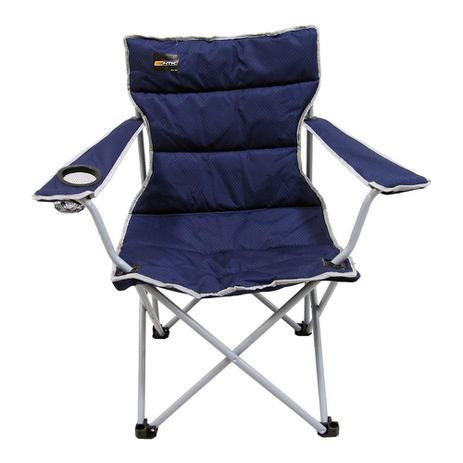 Imagem de Cadeira de Camping Azul Dobrável com Porta Copo e Apoio De Braço Boni Nautika Ntk