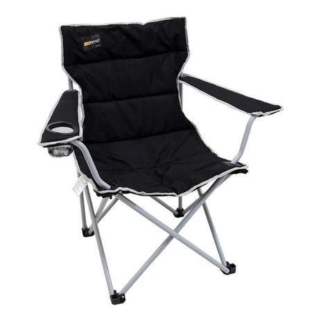 Imagem de Cadeira de Camping Preta Dobrável com Porta Copo e Apoio De Braço Boni Nautika Ntk