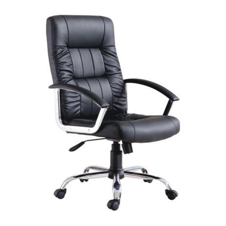 Imagem de Cadeira de Escritório Presidente Giratória Office Plus Preta