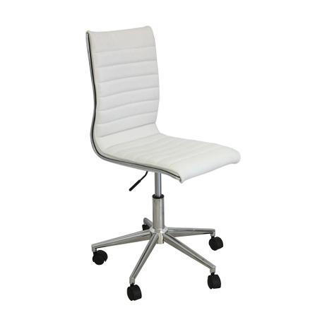 f2d1d6b8c Cadeira de Escritório Secretária Giratória Marilyn Plus Branca - Mobly