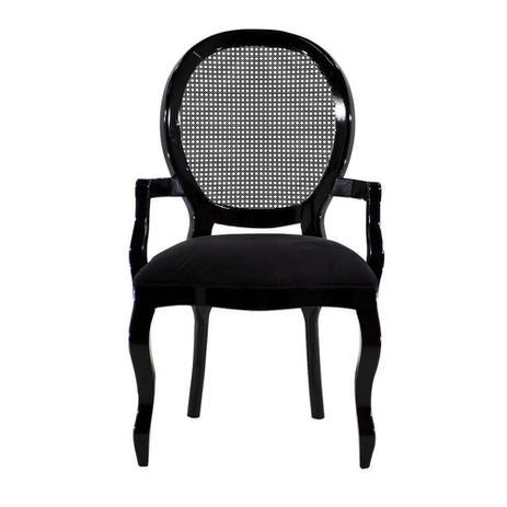 Imagem de Cadeira de Jantar Medalhão Lisa com Braço - Wood Prime 25406
