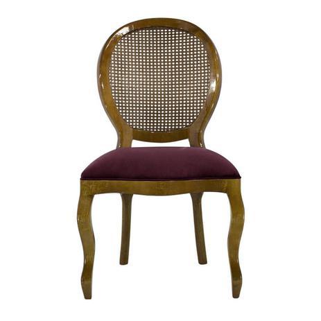Imagem de Cadeira de Jantar Medalhão Lisa Sem Braço - Wood Prime 252370