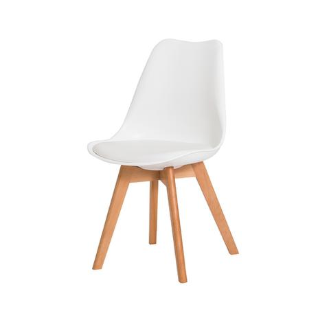 Imagem de Cadeira De Jantar Saarinen Leda Design Branca