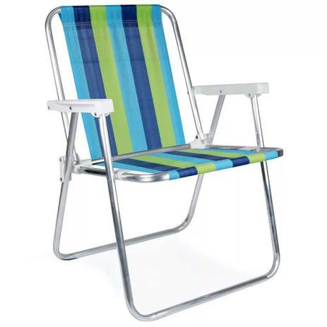 15781d39630f Cadeira de Praia Alta de Aluminio Mor - Cadeira de Praia - Magazine ...