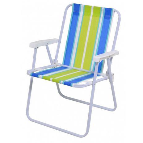 Imagem de Cadeira de Praia Alta em Aço Cores Sortidas Mor - 2002