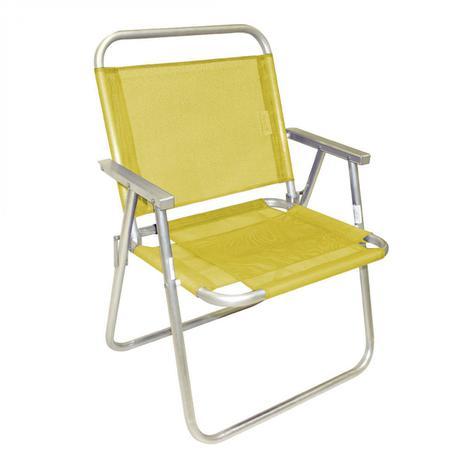 0efe11d086fa Cadeira de Praia Alumínio Conforto Sanet Ronchetti Amarelo - Cadeira ...