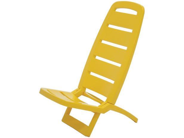 06c0b0772d9e Cadeira de Praia Amarela Tramontina - Basic Guarujá - Cadeira de ...