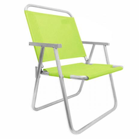 ea35cb7823c0 Cadeira de Praia em Aluminio Suporta Ate 130 Kg Varanda Xl Verde Botafogo