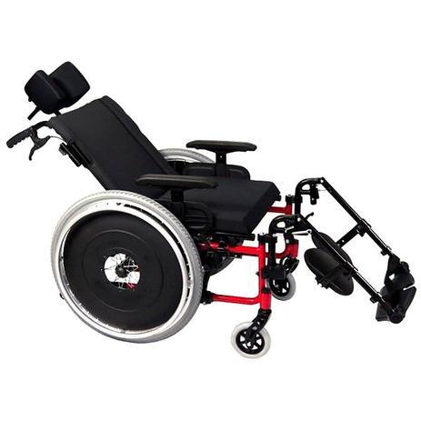 8f3b4a424 Cadeira de Rodas Reclinável AVD Alumínio Ortobras Dobrável X com Apoio de  Cabeça 740505 40cm