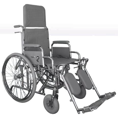 Imagem de Cadeira de Rodas Reclinável Comfort Cromada