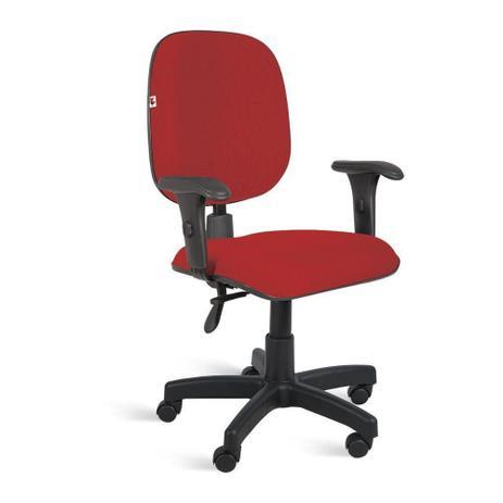 Imagem de Cadeira Diretor Back System Braços Tecido Vermelho