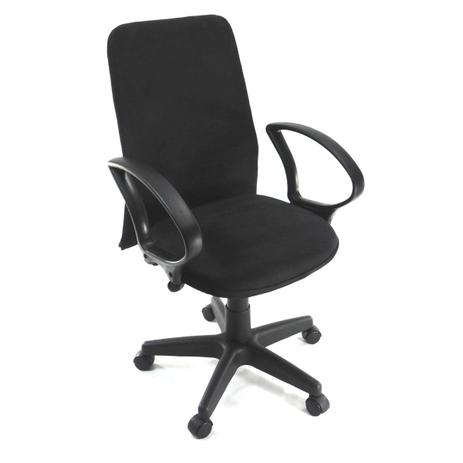 Imagem de Cadeira Diretor Giratória Tela Pistão a Gás preta suede preto