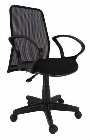 Imagem de Cadeira diretor Giratória Tela Pistão a Gás preta tecido preto