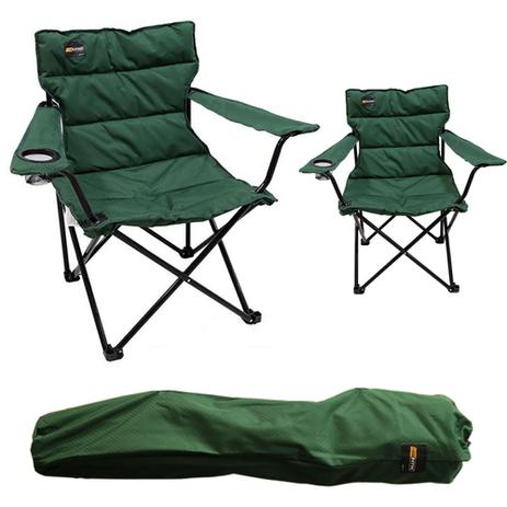 Imagem de Cadeira Dobrável Camping Pesca NTK Boni Porta Copo Estofada