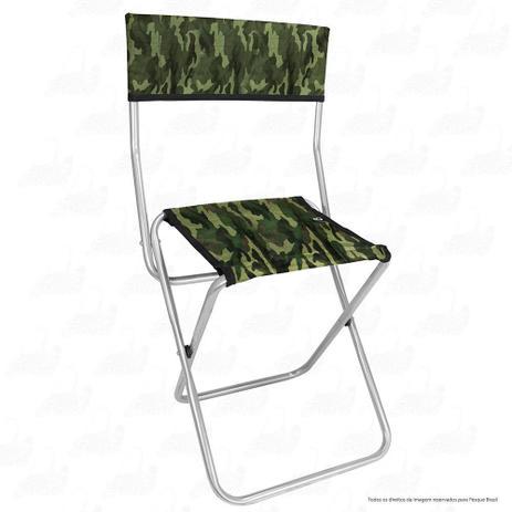 0828a8551 Cadeira Dobrável para Pesca e Camping Jogá Cor Camuflado em Aço Suporta até  105 kg