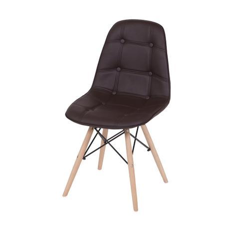 Imagem de Cadeira Eames Eiffel Estofada Cozinha 44X39X83Cm Marrom Café