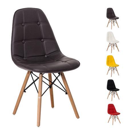 d0a2363fc Cadeira Eiffel Botonê Eames DSW Base Madeira Várias Cores - Waw design
