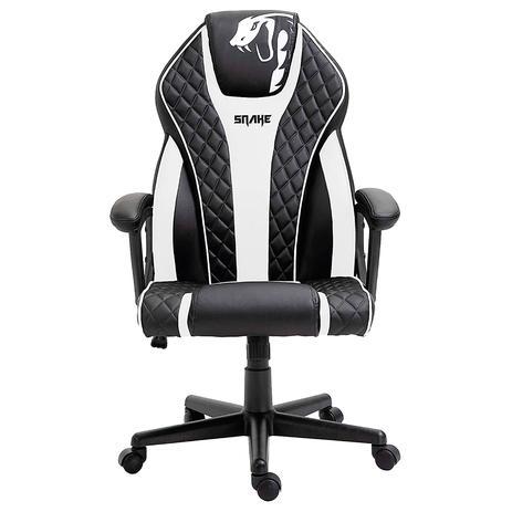 Imagem de Cadeira Gamer Advanced Snake Naja reclinável giratória preta e branca 411