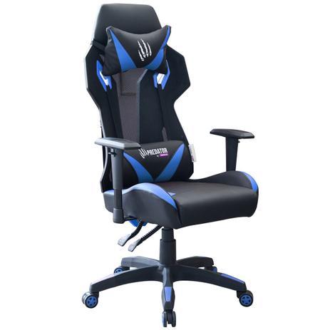 bcf1f58fe Cadeira Gamer Giratória Trevalla TL-CDG-02-7PR Predator Preta Azul ...