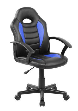 225ae9ed2f Cadeira Gamer Kids em Couro PU Preta com Azul Pelegrin PEL-9353 ...