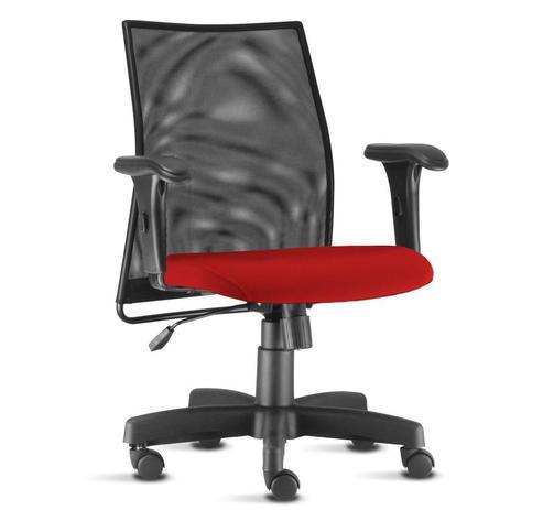 1d69dd92e9e4 Cadeira Giratória Tela Para Escritório Vermelha Com Sistema Relax - Liss -  Flex mesas e cadeiras