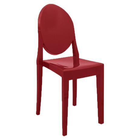 Imagem de Cadeira Medalhão em Resina Vermelha