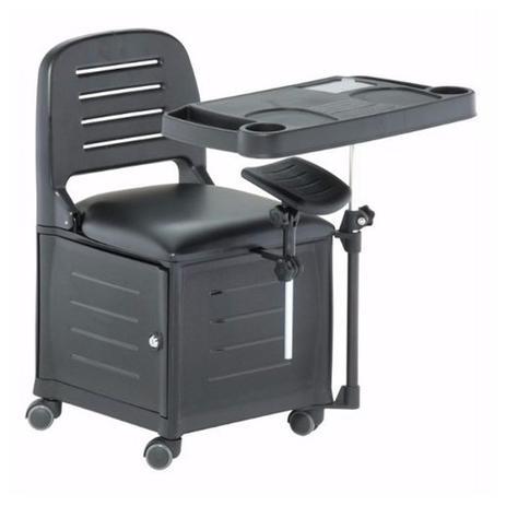 Imagem de Cadeira Mesa Manicure Cirandinha Veneza Preta - Dompel