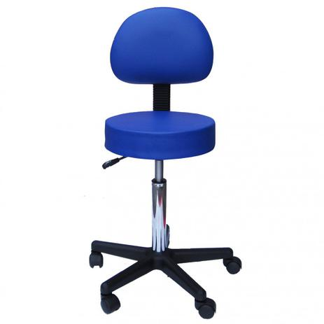Imagem de Cadeira Mocho com Encosto Fidler - Azul