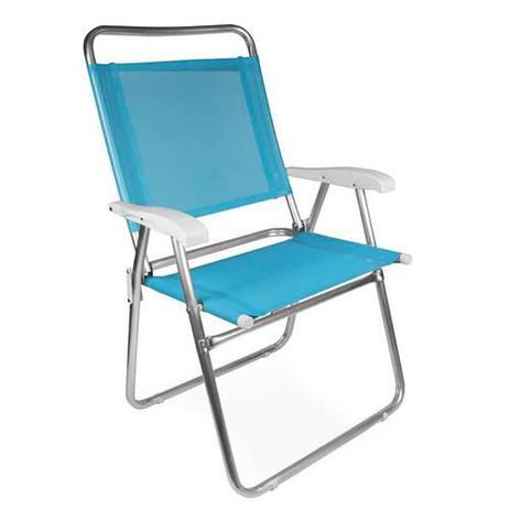 Imagem de Cadeira Mor Master Plus Alumínio, Azul