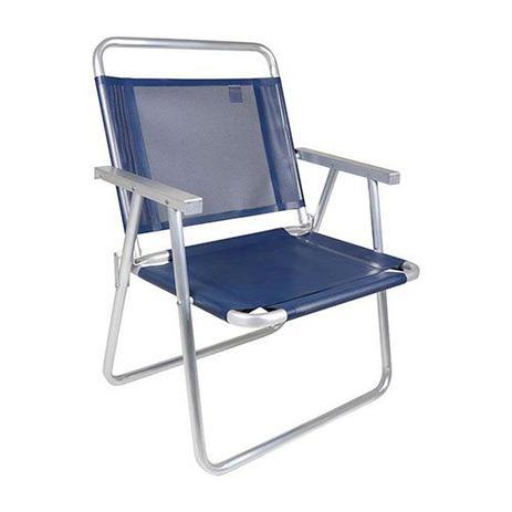 Imagem de Cadeira oversize aluminio azul - mor