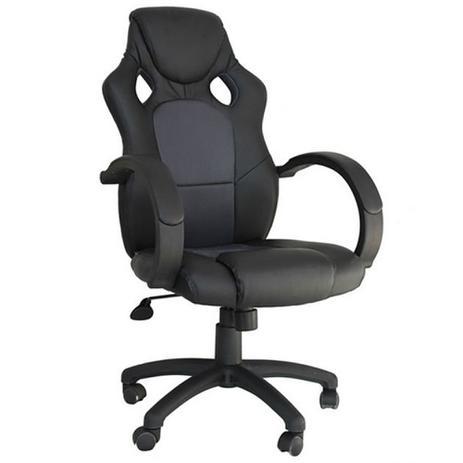 2fba610fb8 Cadeira para Escritório Racer Preto e Cinza - Rivatti - Cadeira de ...