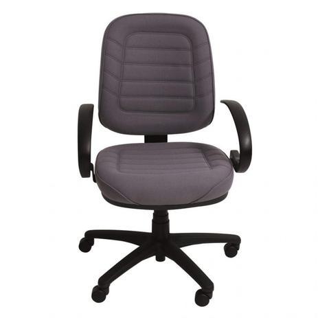 d25f5caac12d Cadeira para Escritório Secretária Soft Siena Móveis Crepe Cinza ...