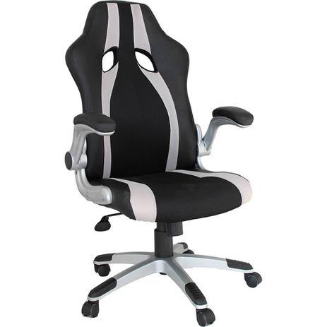 73557472fc Cadeira para Escritório Speed Preto e Cinza - Rivatti - Conjunto ...