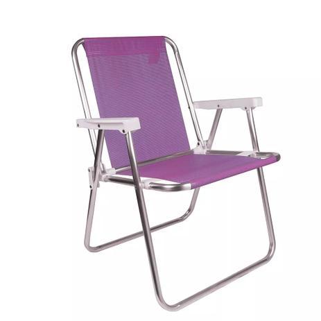 Imagem de Cadeira praia alta aluminio sannet lilas 2291 mor