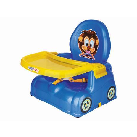 Imagem de Cadeira Refeição Bebê Azul Portátil Leão Magic Toys 4776