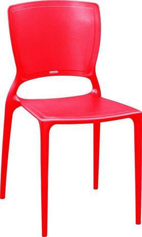 Imagem de Cadeira Sofia Vermelha Tramontina Encosto Fechado 92236/040