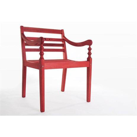 Imagem de Cadeira Varanda 100 em Madeira Vermelho - Mão  Formão