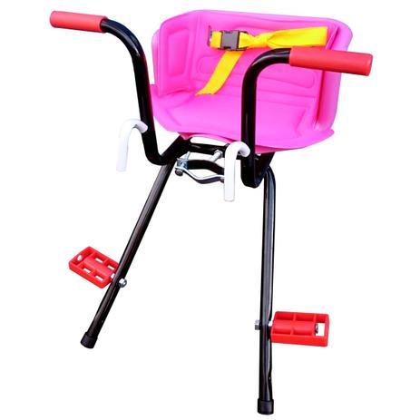 Imagem de Cadeirinha Infantil Dianteira Rosa para Bicicleta Stilo Super Luxo