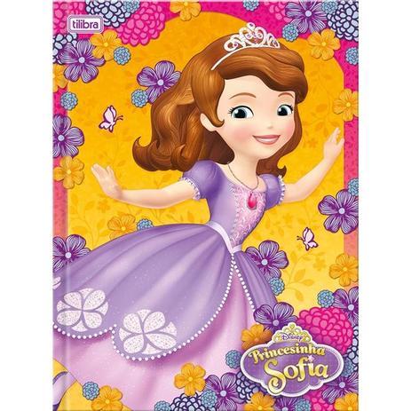 caderno brochura princesa sofia 96 folhas tilibra cadernos